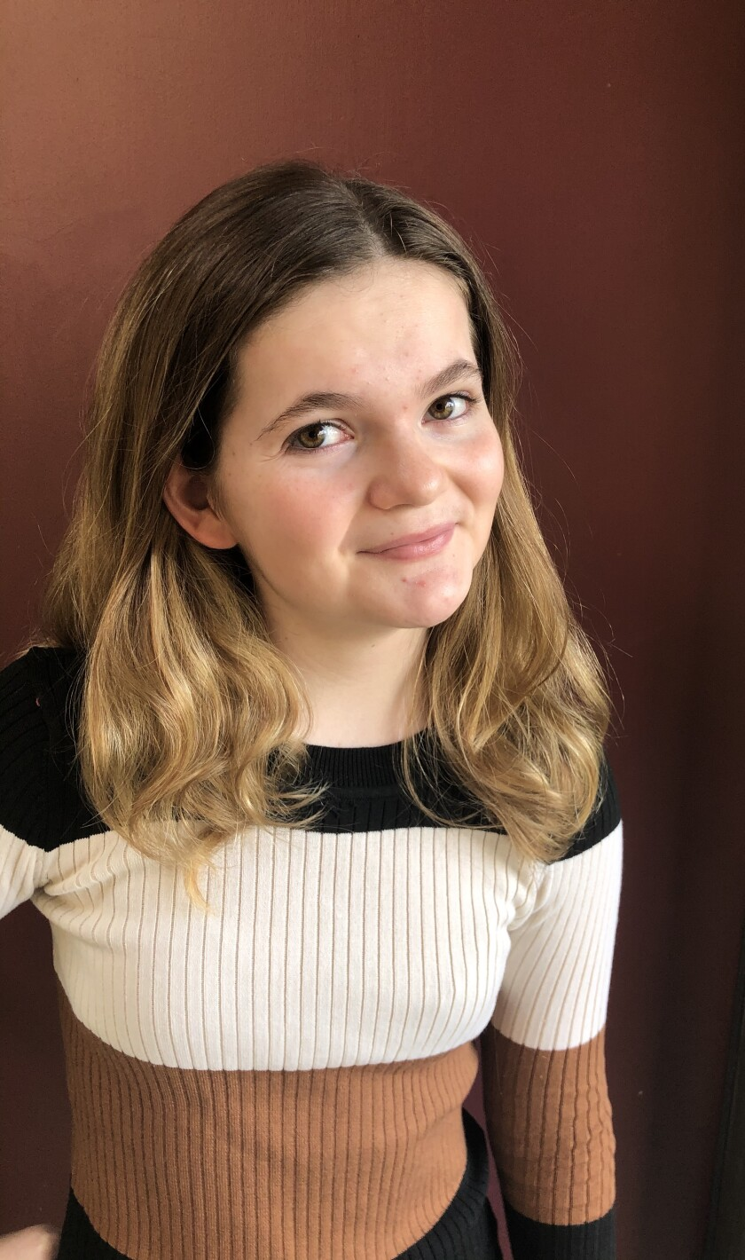 Elora Sparnicht won the county's champion title for Poetry Out Loud.
