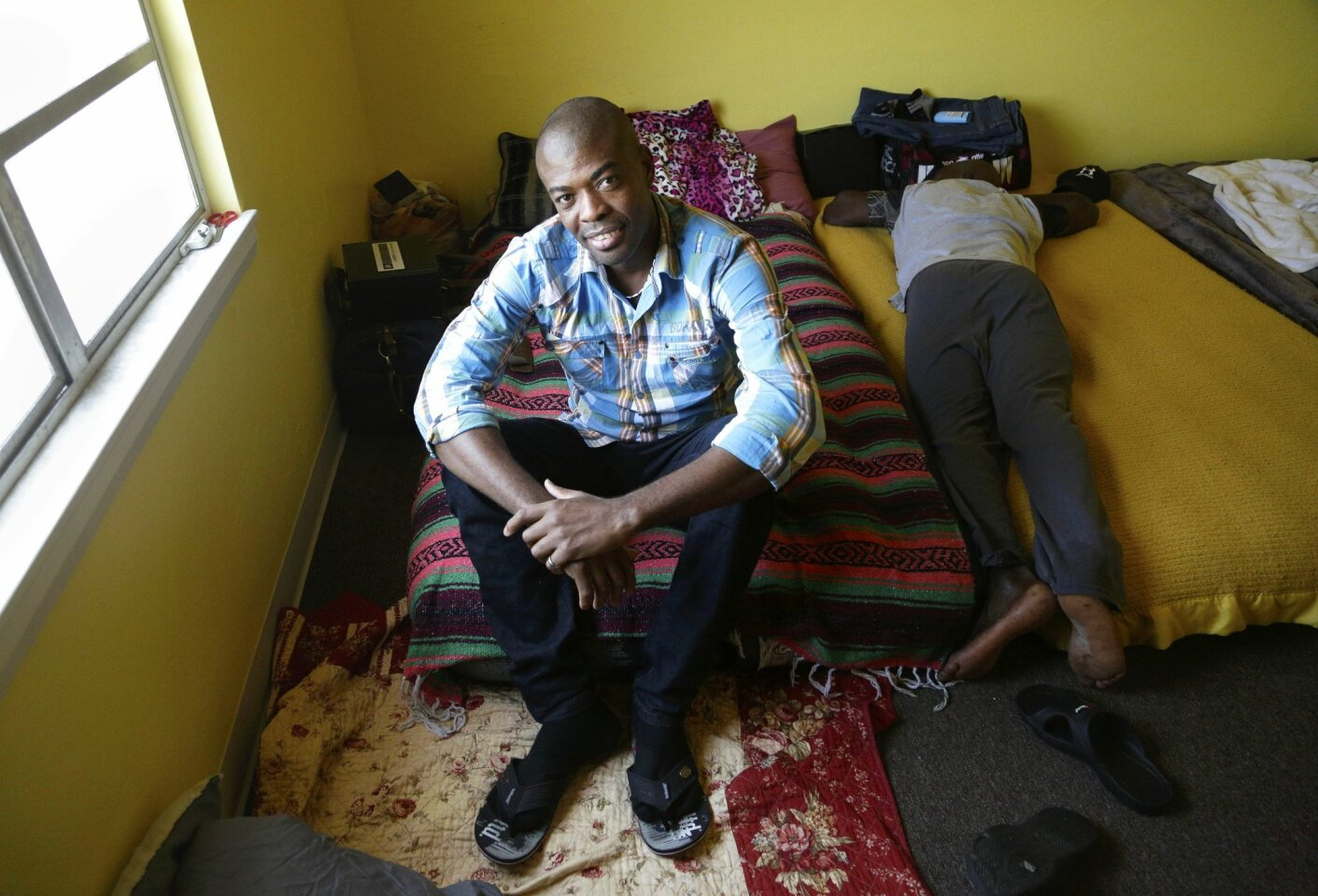 Haitians in transit find temporary shelter