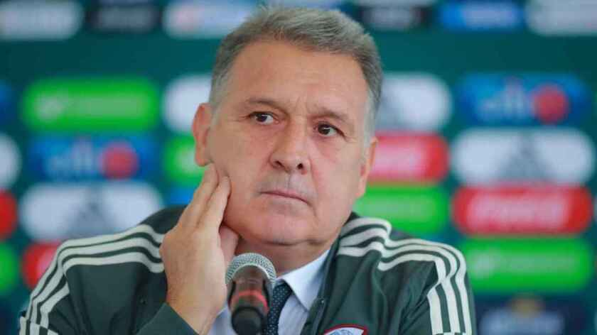 El argentino Gerardo 'Tata' Martino, en su presentación como entrenador del Tri.