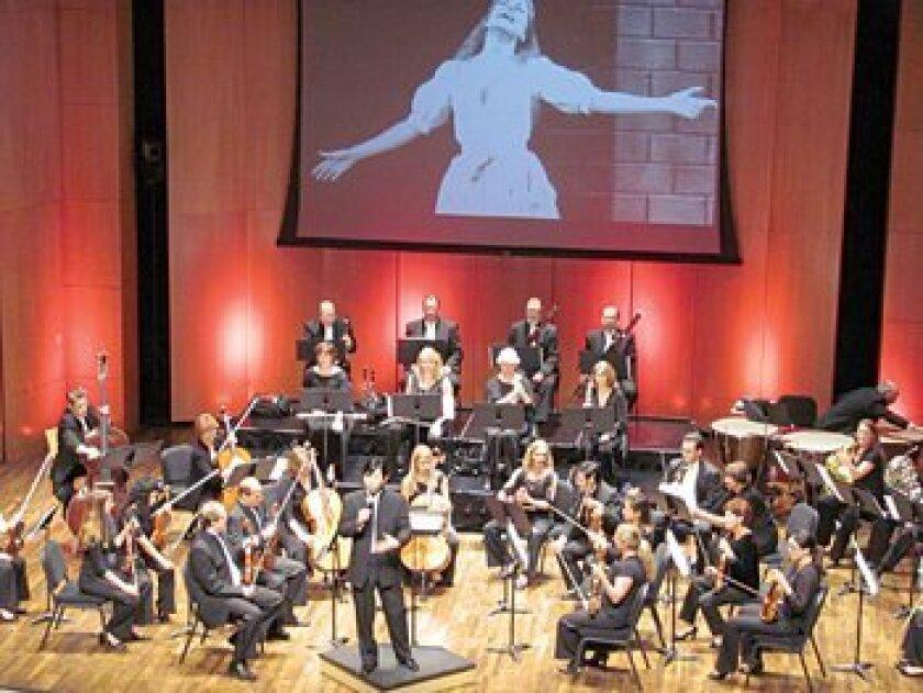 Videos add a visual element to Orchestra Nova performances. Photo: Susan DeMaggio