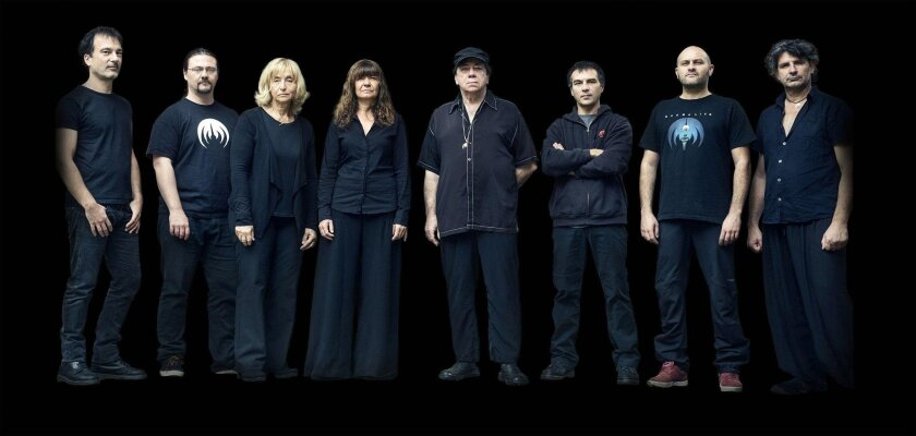 Magma. Band leader and founder Christian Vander is fifth from left. Courtesy photo