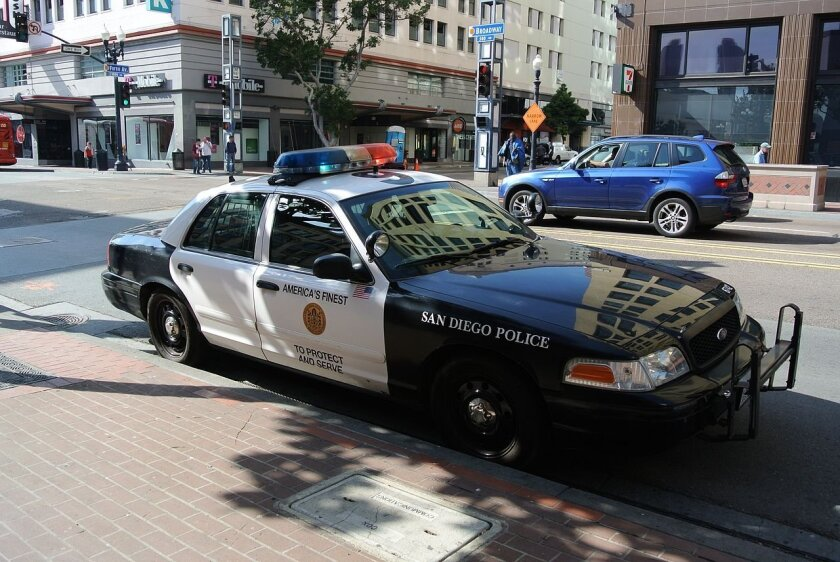 A San Diego police car is shown in this file photo.