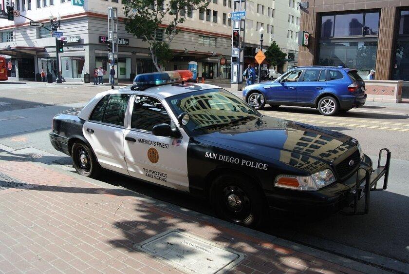 A San Diego Police car