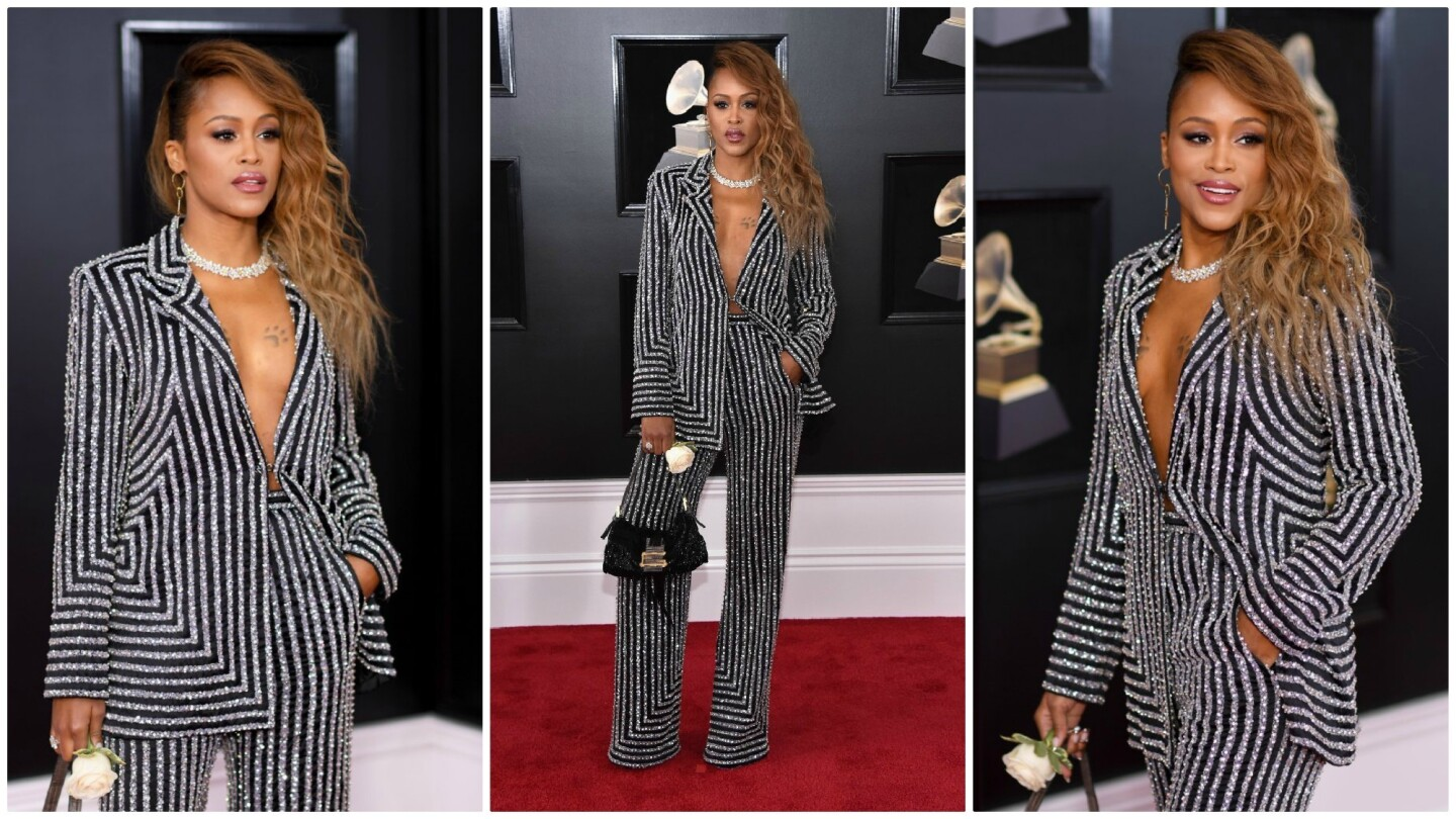 Eve attends the 60th Grammy Awards at Madison Square Garden on Jan. 28, 2018, in New York.