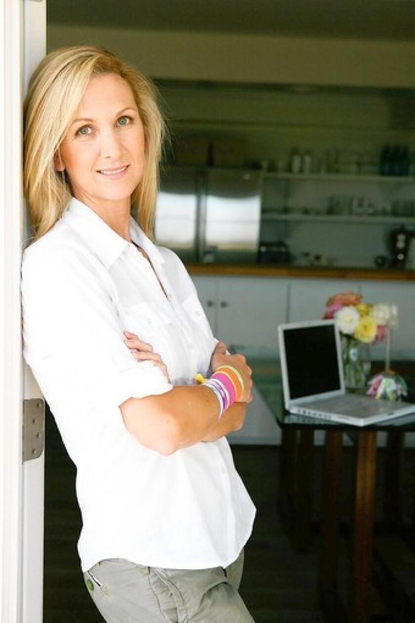 Jessica Frandson, founder of Newport Beach Twistband, keeps them handy on her wrist.