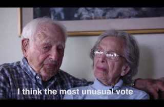 Betty and Morris Markoff have a voting message for you