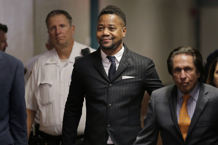Cuba Gooding Jr. arrives at a New York courtroom.
