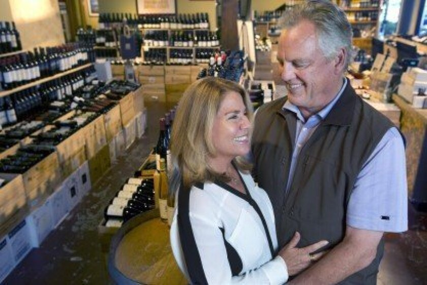 Lori and Gary Parker are celebrating The Wine Sellar's 30th anniversary. Photo by Bill Wechter, UT San Diego