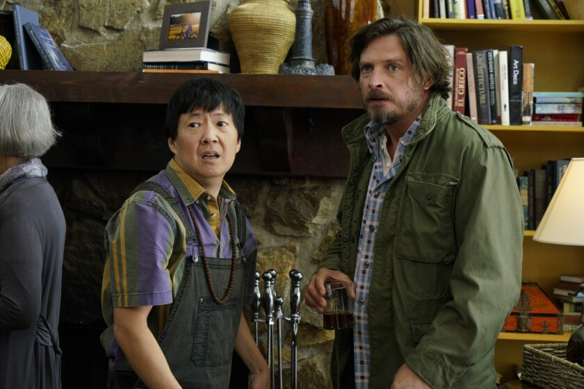 Ken Jeong and Aden Young in the movie 'Elsewhere'