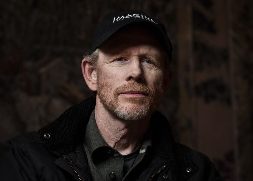 This April 30, 2019 photo shows filmmaker Ron Howard posing for a portrait in New York to promote hi