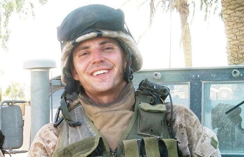 Nathan Fletcher as a Marine on duty in Iraq.
