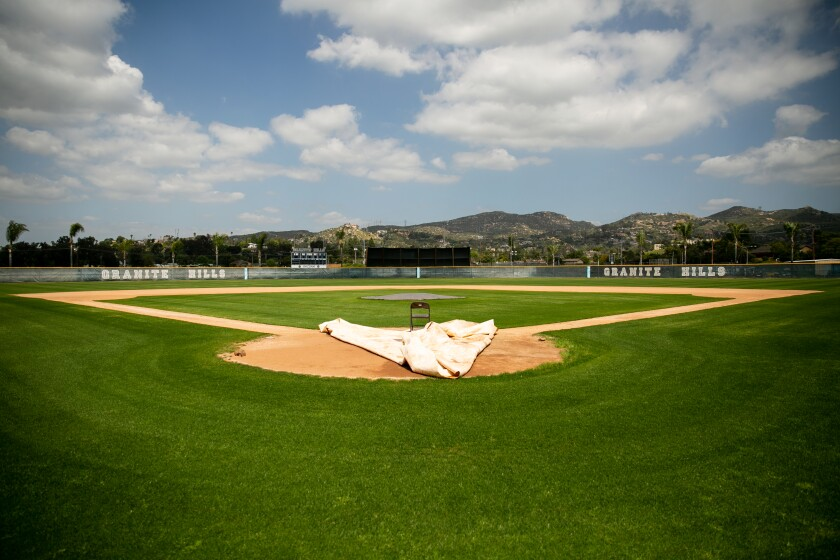 Will any fields, like this baseball field at Granite Hills High School, get used this school year?