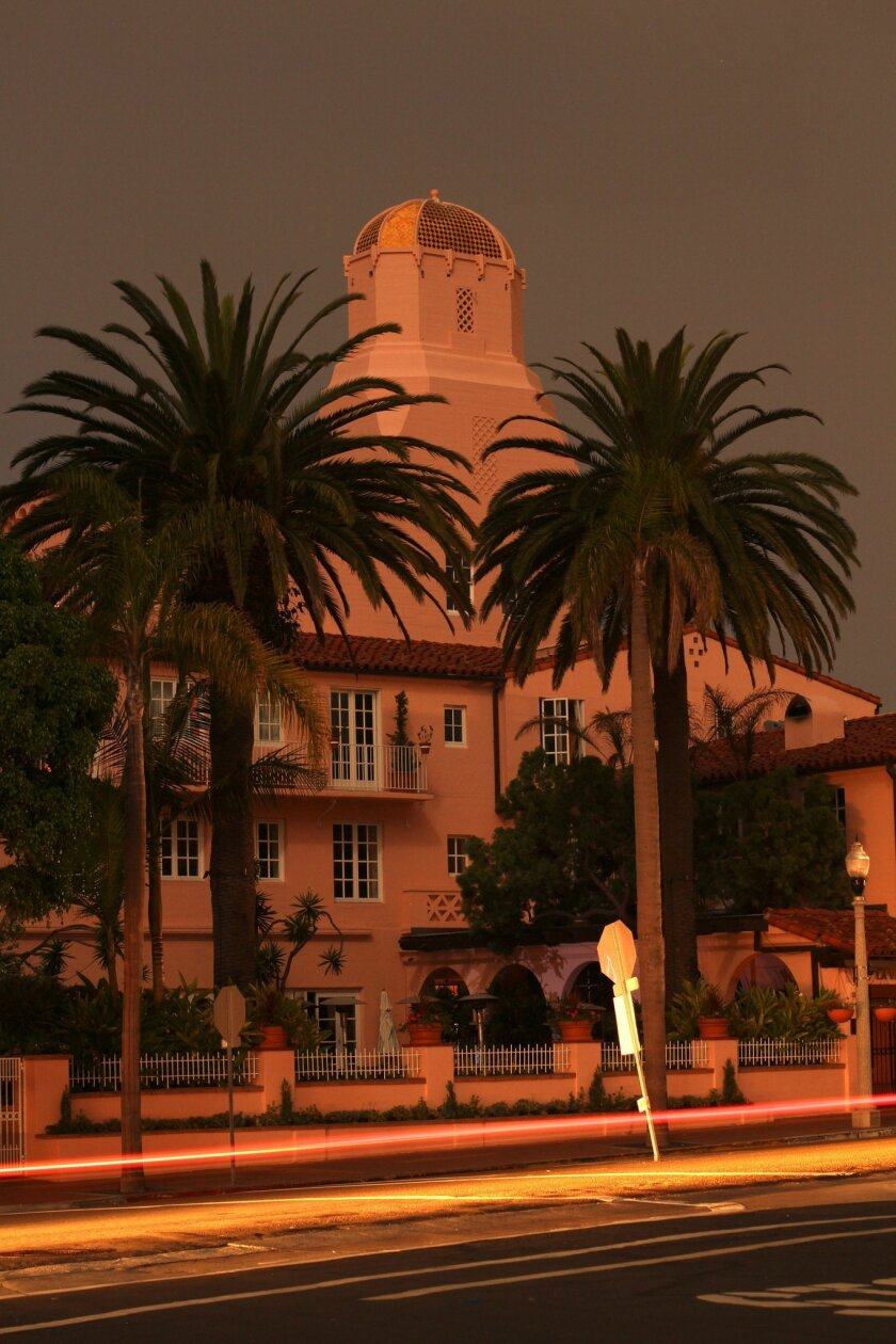 La Valencia glowed in the moonlight during the September 2011 blackout. Photo: Jeremy W. Smith