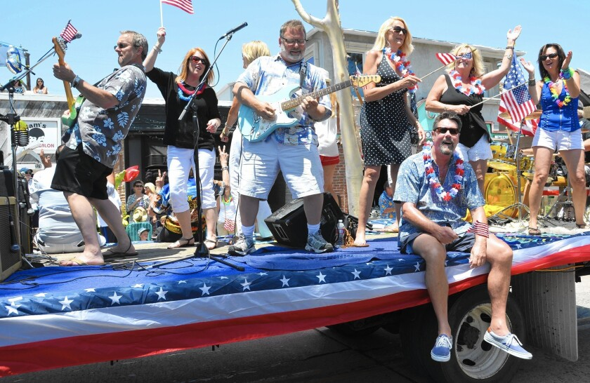 The Fabulous Nomads play during the annual Celebrate Balboa Island Day parade in Newport Beach.