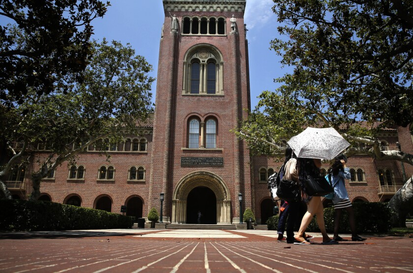USC's Bovard auditorium. USC plans to shutter its masters of public writing program.