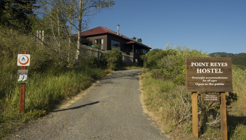 The Point Reyes Hostel in Northern California is located in a natural setting near hiking trails and the coast.