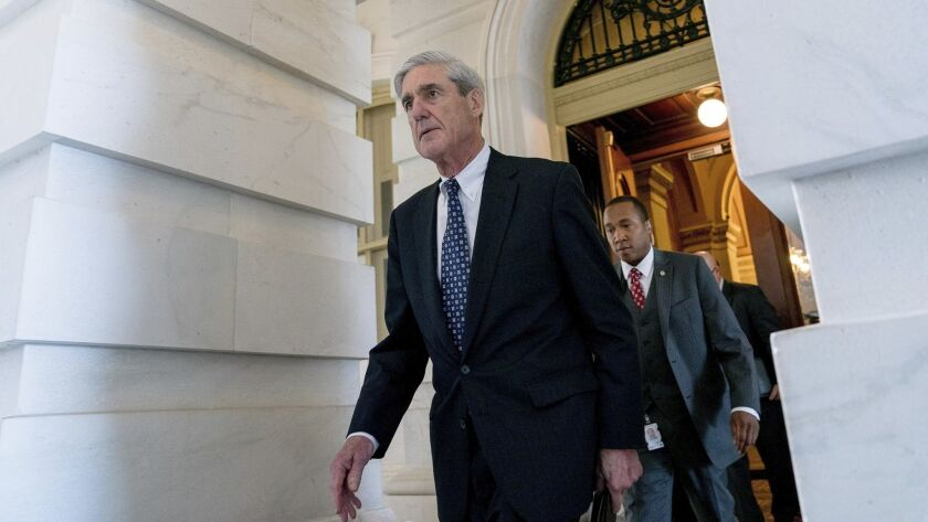 Former FBI Director Robert Mueller, the special counsel probing Russian interference in the 2016 election, departs Capitol Hill following a closed door meeting in Washington, June 21, 2017.
