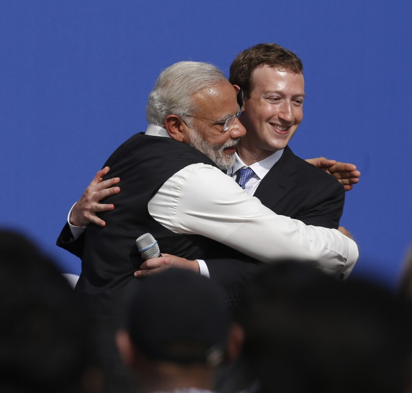 Indian prime minister gets emotional during Facebook Q&A