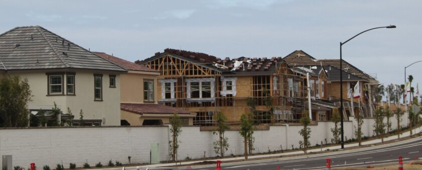 New homes along Carmel Valley Road in Pacific Highlands Ranch.