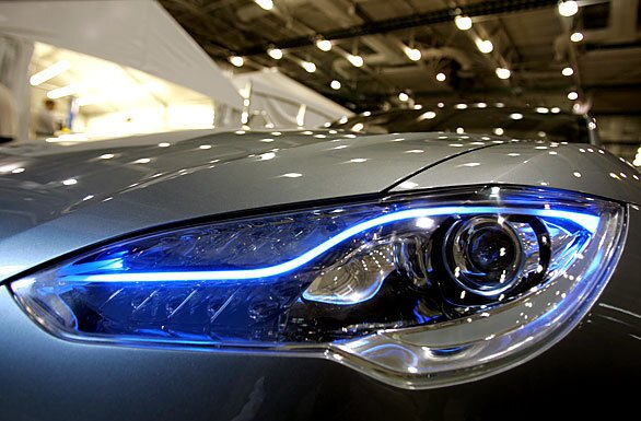 The prototype vehicle features include LED lights on the headlights.