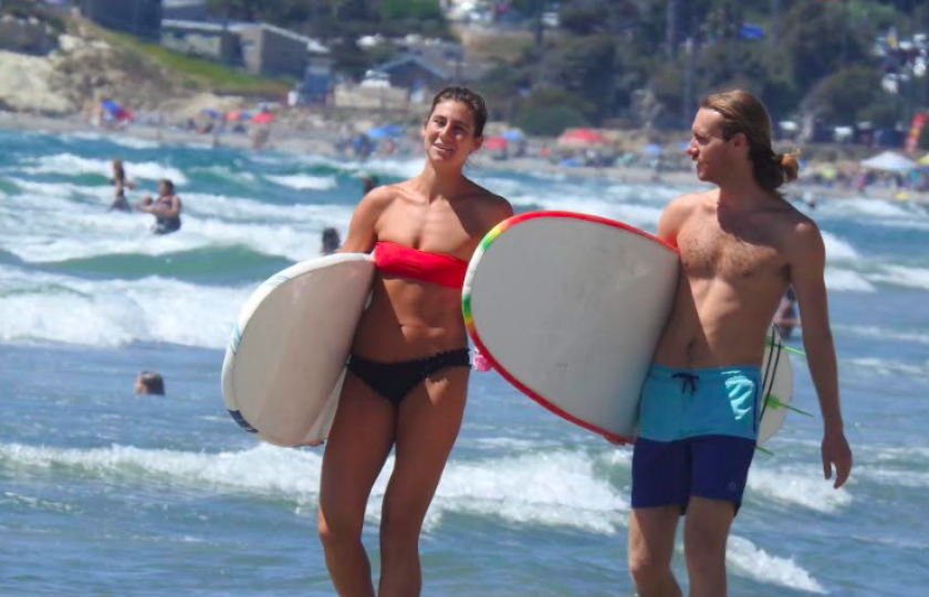 The ocean could hit 75 to 77 degrees this weekend.