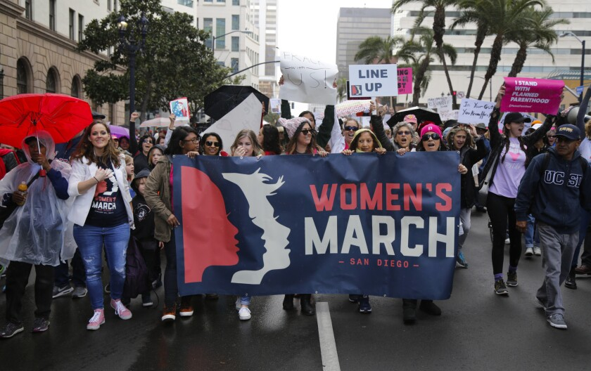 The San Diego Women's March in 2017.