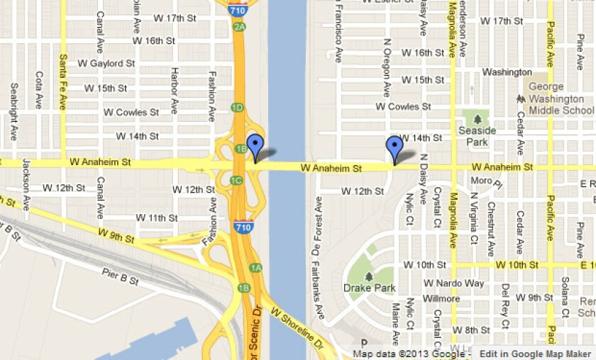 Approximate location of the street closures after the ammonia leak are shown.