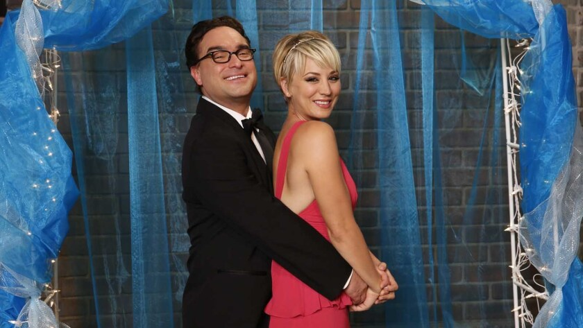 "Johnny Galecki and Kaley Cuoco-Sweeting  in ""The Big Bang Theory"" on CBS."