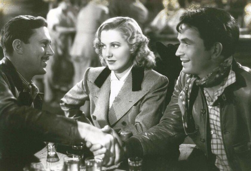 """Jean Arthur, center, in """"Only Angels Have Wings"""" from 1939."""