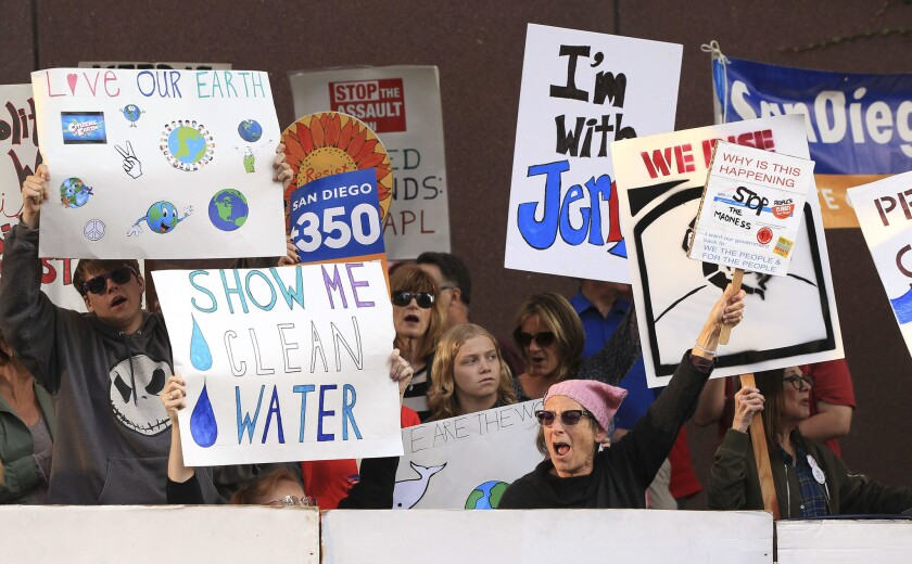 The climate crisis has spurred protests around the country in recent years, including in San Diego.