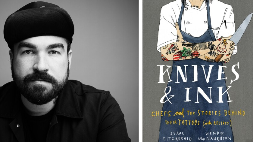 """Issac Fitzgerald, author of """"Knives & Ink: Chefs and the Stories Behind Their Tattoos (with Recipes)."""""""