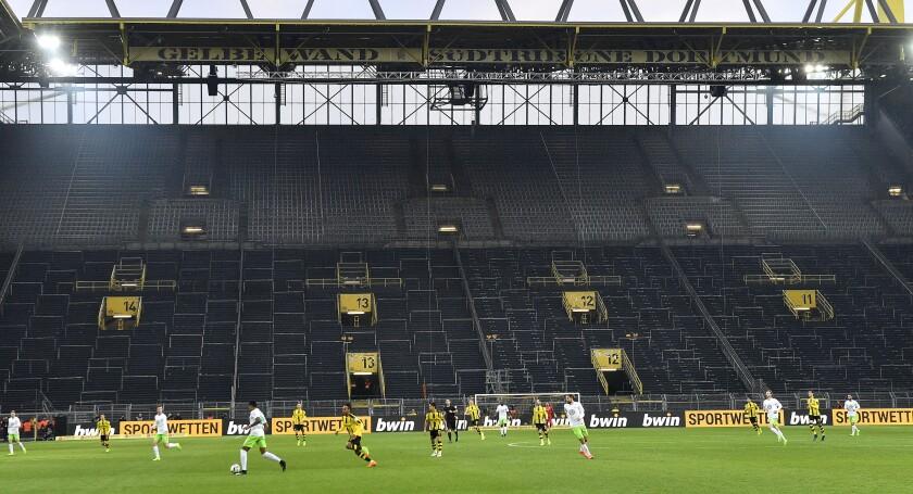 Virus Outbreak Germany Soccer Restart