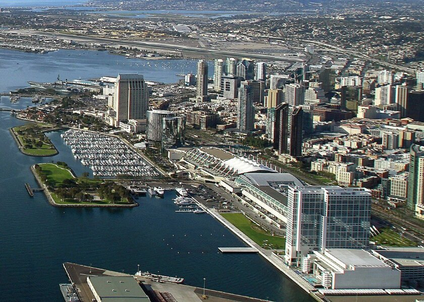 A new study says San Diego's convention center will deliver much larger financial returns if it's expanded on the waterfront as opposed to a site several blocks away.