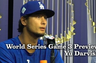 Yu Darvish on preparing for World Series Game 3