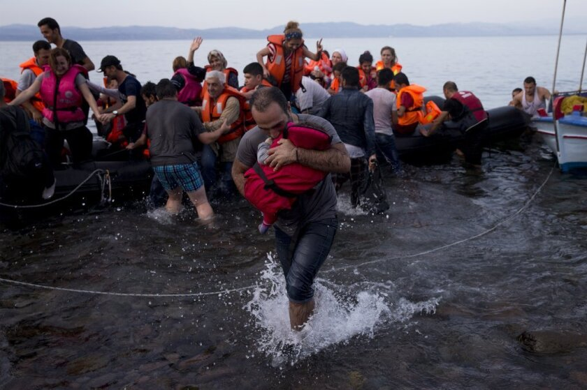 Syrian refugees arrive in Greece this week. Observers wanting historical depth on the refugee crisis would be wise to look to Aeschylus, our theater critic Charles McNulty says.