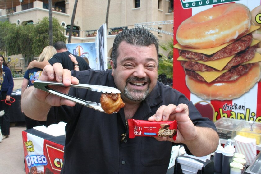 Among Chicken Charlie's new creations is a deep-fried Slimfast bar.