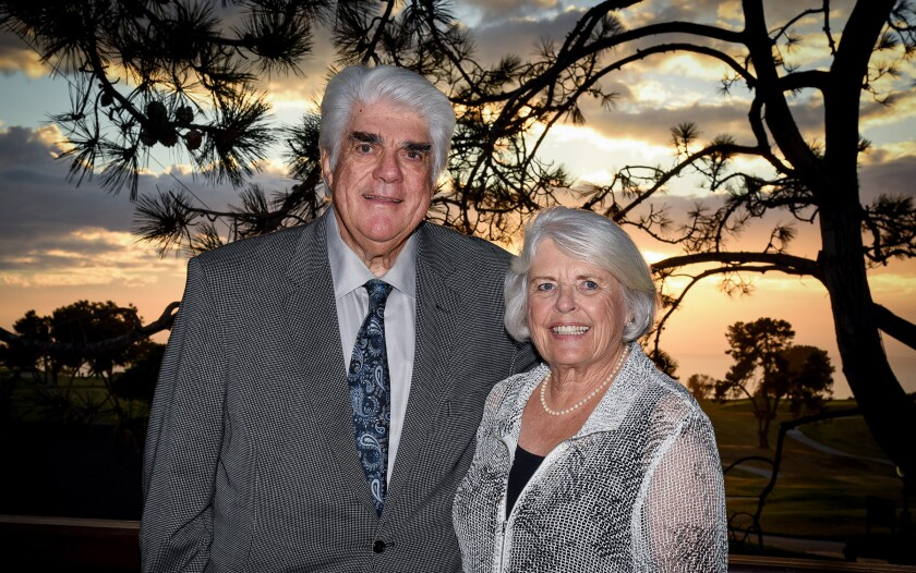 Paul and Marge Palmer. Paul was the longtime KFMB radio manager, died Oct. 28. He was 76.