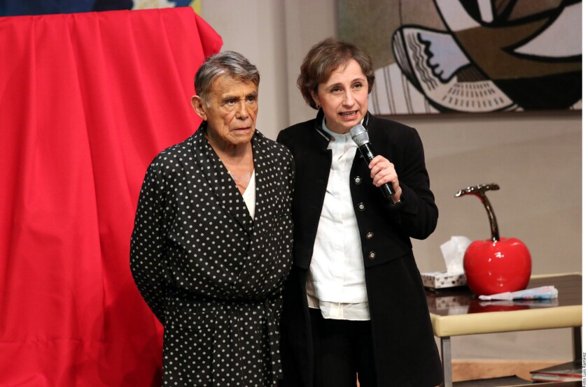 Carmen Aristegui y Héctor Suárez