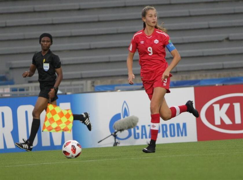 La jugadora Jordyn Huitema de Canadá. EFE