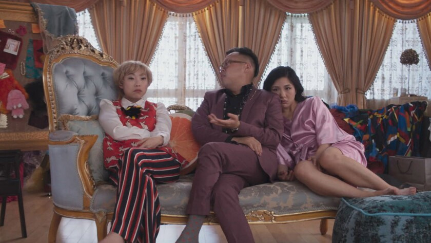 **EXCLUSIVE SUMMER SNEAKS 2018***(L-R) AWKWAFINA as Piek Lin, NICO SANTOS as Oliver and CONSTANCE WU