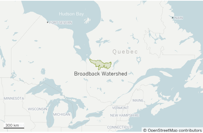 Map of Broadback Watershed