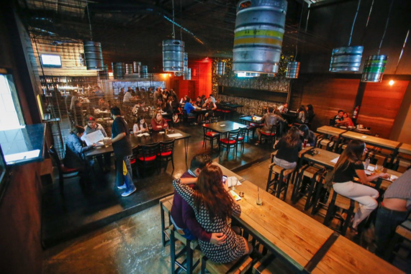 The BCB tasting room in Tijuana has an extensive lineup of California and Baja California craft beers.