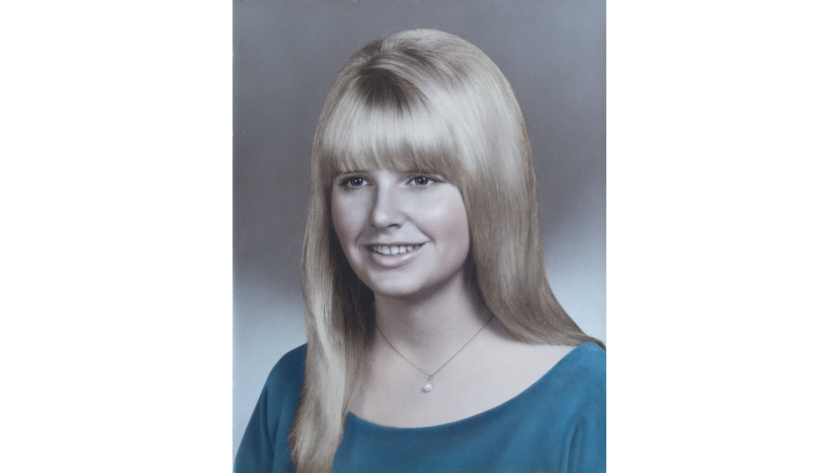A 1968 high school portrait of Debbie Paulsen. Paulsen is one of the seven victims murdered at California State University, Fullerton on July 12, 1976.