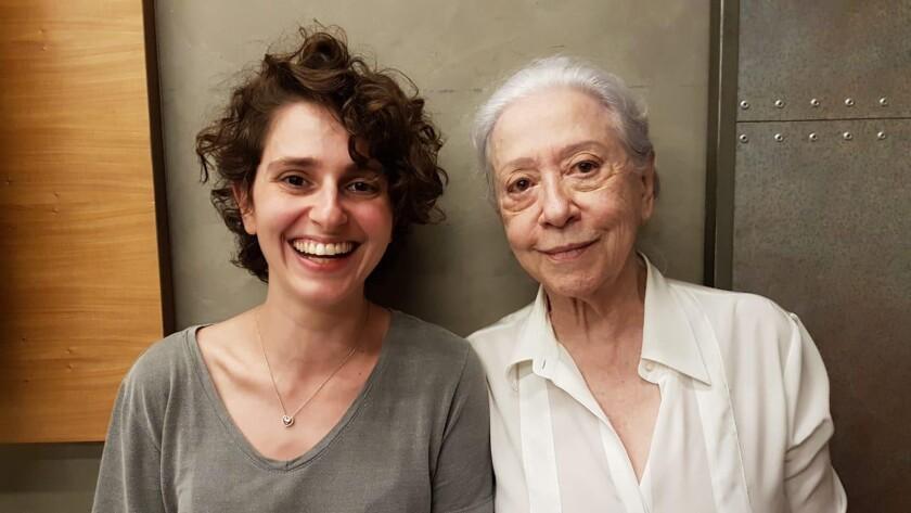 Carol Duarte, left, and Fernanda Montenegro