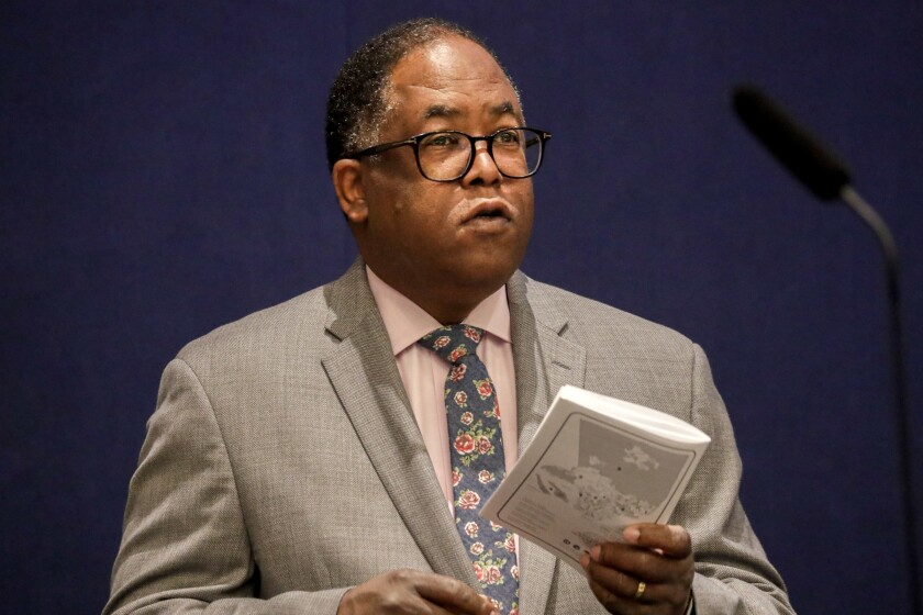 "Los Angeles County Supervisor Mark Ridley-Thomas, who co-chairs the governor's homelessness task force, will speak on the podcast ""Gimme Shelter."""