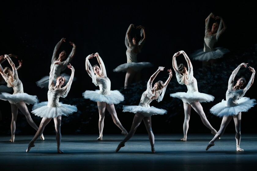 """American Ballet Theatre performs """"La Bayadére"""" at the Music Center's Dorothy Chandler Pavilion in 2018."""