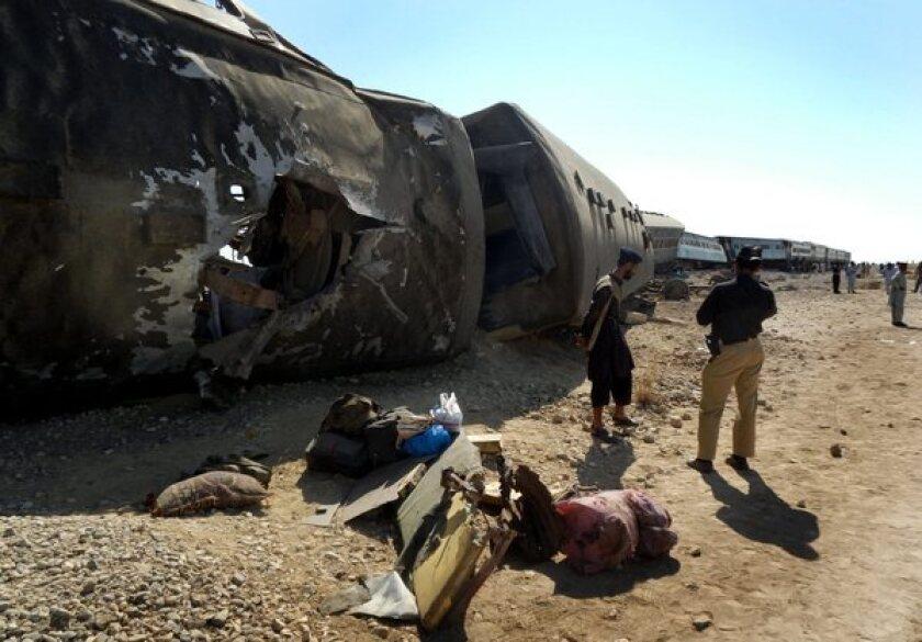Suicide bomb blast targeting a Jaffar Express