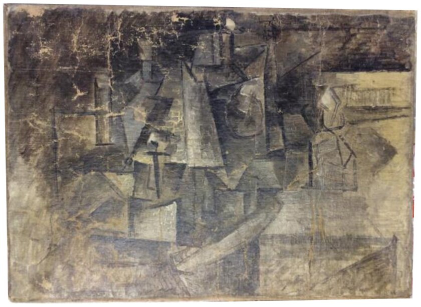 """The Cubist painting """"La Coiffeuse"""" (The Hairdresser) by Pablo Picasso, reported stolen in France in 2001, was recovered in December after it was shipped to the United States from Belgium, marked as a toy."""