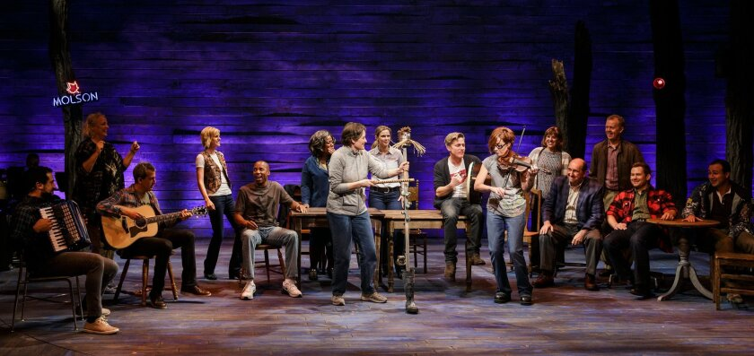 "A scene from La Jolla Playhouse's ""Come From Away."""