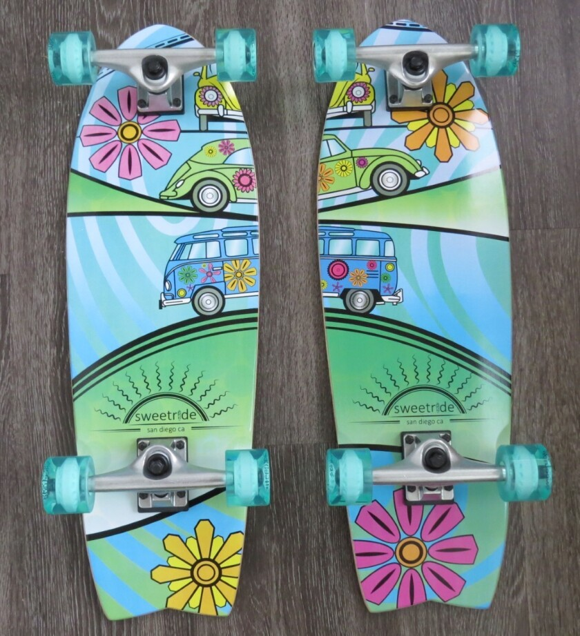 Available in pairs or separately, Sweetride skateboards have connectable designs.